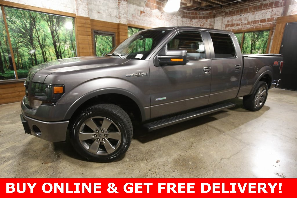 Pre-Owned 2014 Ford F-150 FX4 Crew Cab 4WD, Sunroof, Navigation, Luxury Pkg
