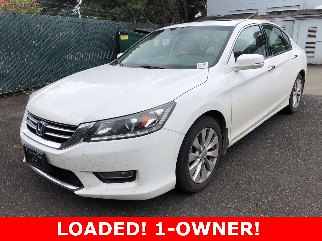 Pre-Owned 2013 Honda Accord EX-L 1-Owner with Sunroof, Leather Heated Seats