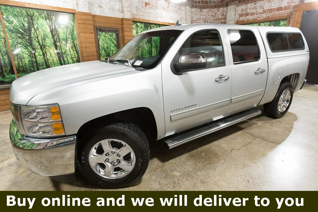 Pre-Owned 2012 Chevrolet Silverado 1500 LT Crew Cab, Leather, Canopy, Chrome Wheels