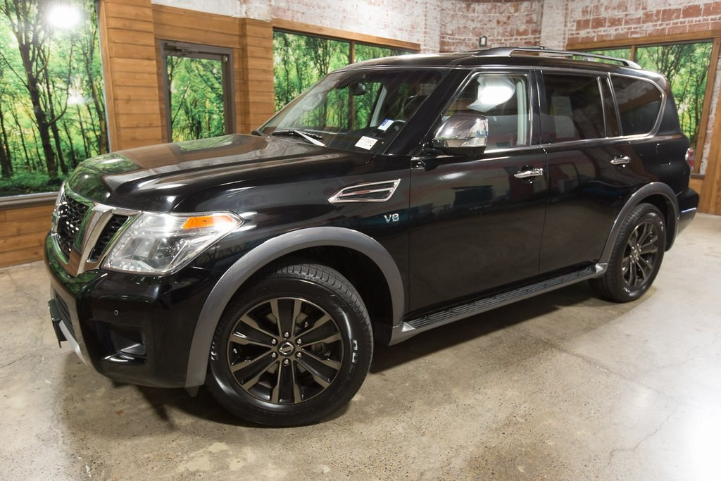 Pre-Owned 2017 Nissan Armada Platinum Family Entertainment System, Sunroof, Navigation