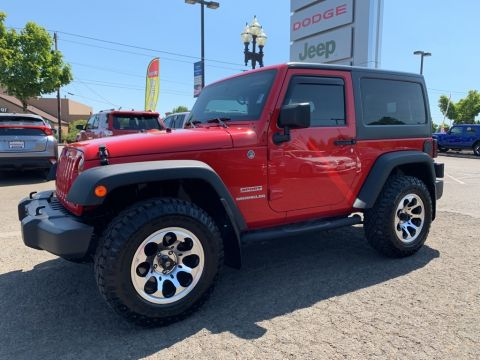 Pre-Owned 2012 Jeep Wrangler Sport 4WD, HardTop, Power Group, Custom Wheels
