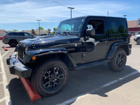 Certified Pre-Owned 2017 Jeep Wrangler Smoky Mountain LOW Miles, One Owner, Navigation, Back Up Camera
