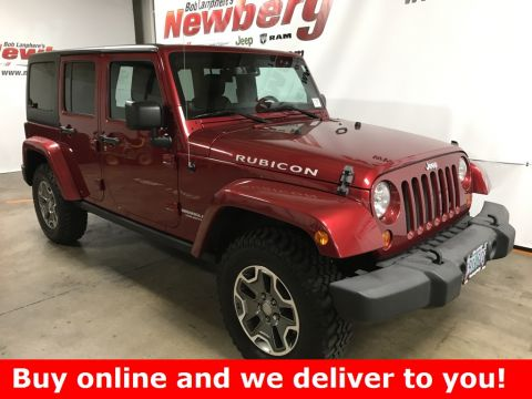 Pre-Owned 2013 Jeep Wrangler Unlimited Rubicon Clean Carfax, Dual Tops, 6 Speed