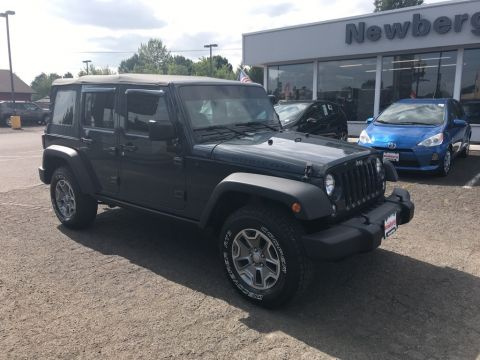 Certified Pre-Owned 2016 Jeep Wrangler Unlimited Rubicon 4WD, Clean Carfax