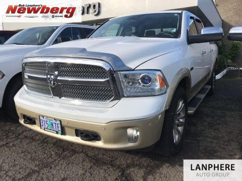 Pre-Owned 2014 Ram 1500 Laramie Longhorn Clean Carfax, Back Up Camera, Leather, Moonroof!