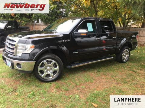 Pre-Owned 2013 Ford F-150 Lariat Clean Carfax, Leather, Back Up Camera, Moonroof!