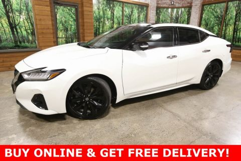 Pre-Owned 2019 Nissan Maxima Platinum with Navigation, Sunroof, Premium Pearl Paint