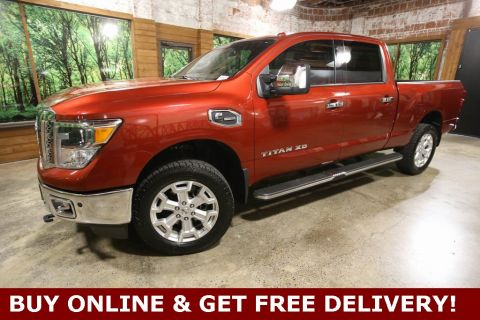 Pre-Owned 2016 Nissan Titan XD SL DIESEL Crew Cab 4WD, Navigation, Heated Seats