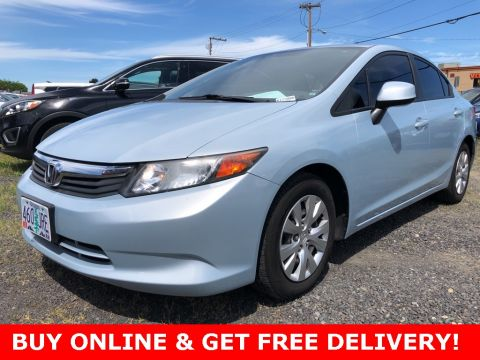 Pre-Owned 2012 Honda Civic LX Automatic, Clean Carfax