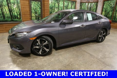 Certified Pre-Owned 2017 Honda Civic Touring CERTIFIED, 1-Owner, Sunroof, Navigation