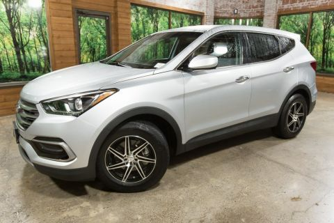 Pre-Owned 2017 Hyundai Santa Fe Sport 2.4 Base AWD, Custom Wheels, Clean Carfax