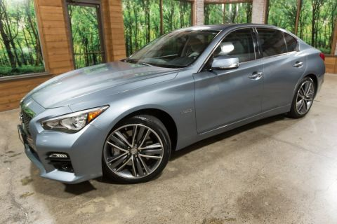 Certified Pre-Owned 2014 INFINITI Q50 Hybrid Sport One Owner, Navigation, AWD, Certified!