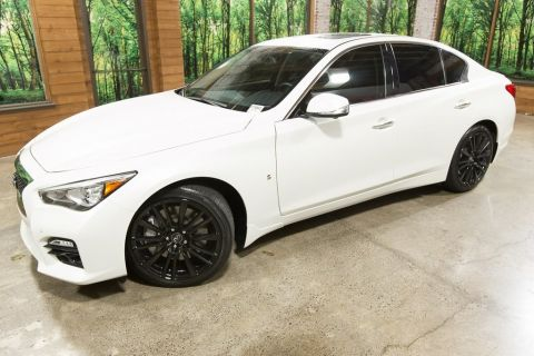 Certified Pre-Owned 2016 INFINITI Q50 Red Sport 400 AWD, Tech Pkg, Driver Assist Pkg, CERTIFIED