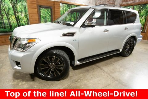 Pre-Owned 2019 Nissan Armada Platinum 4WD, DVD, Navigation, Sunroof, 1-Owner
