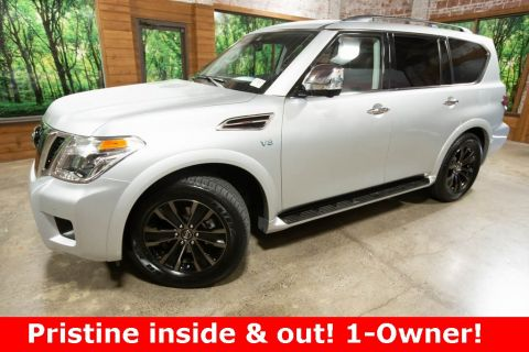 Pre-Owned 2019 Nissan Armada Platinum 4WD with DVD, Navigation, Sunroof, 1-Owner