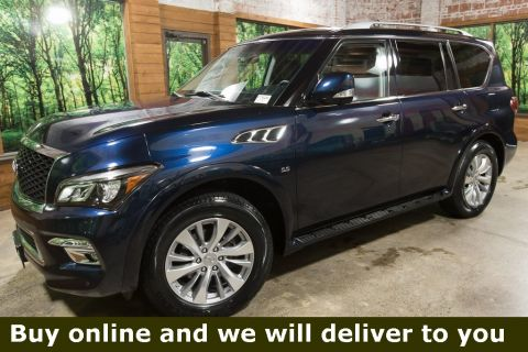 Certified Pre-Owned 2017 INFINITI QX80 Base AWD, Certified, Navigation, Sunroof