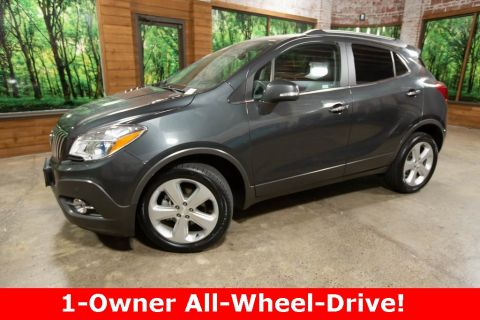 Pre-Owned 2016 Buick Encore Premium AWD, Navigation, Sunroof, Leather, 1-Owner
